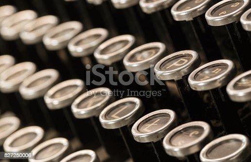 istock Old typewriter keys 827250006