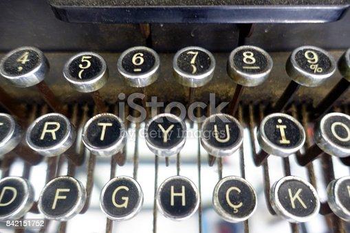 istock old typewriter keys 842151752