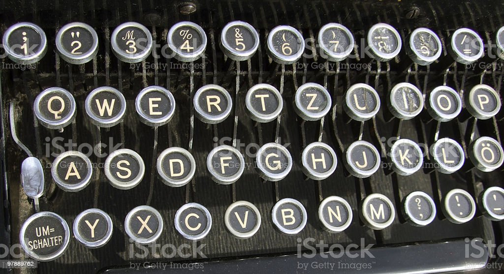 Old Typewriter Letter's stock photo