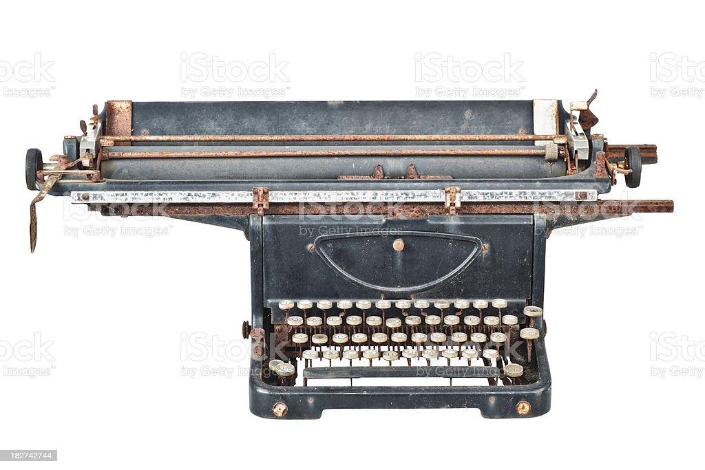 Old Typewriter - Mercedes royalty-free stock photo