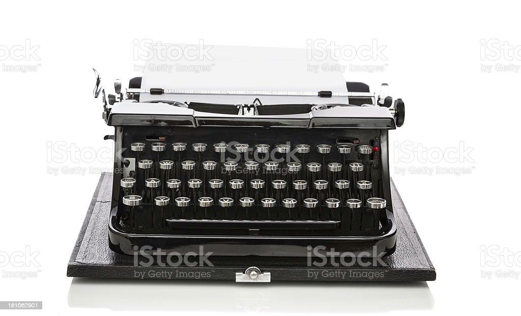 old typewriter on white stock photo