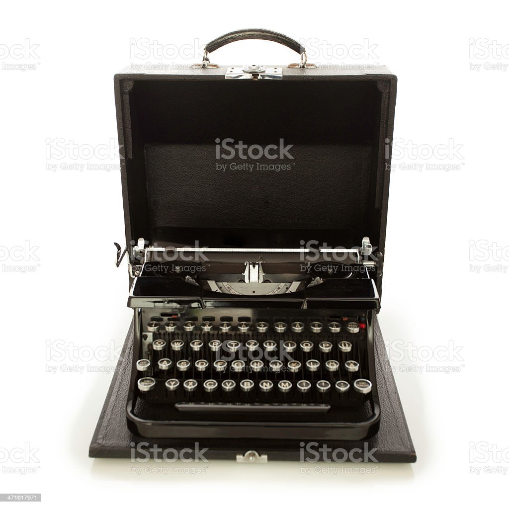 old typewriter on white royalty-free stock photo