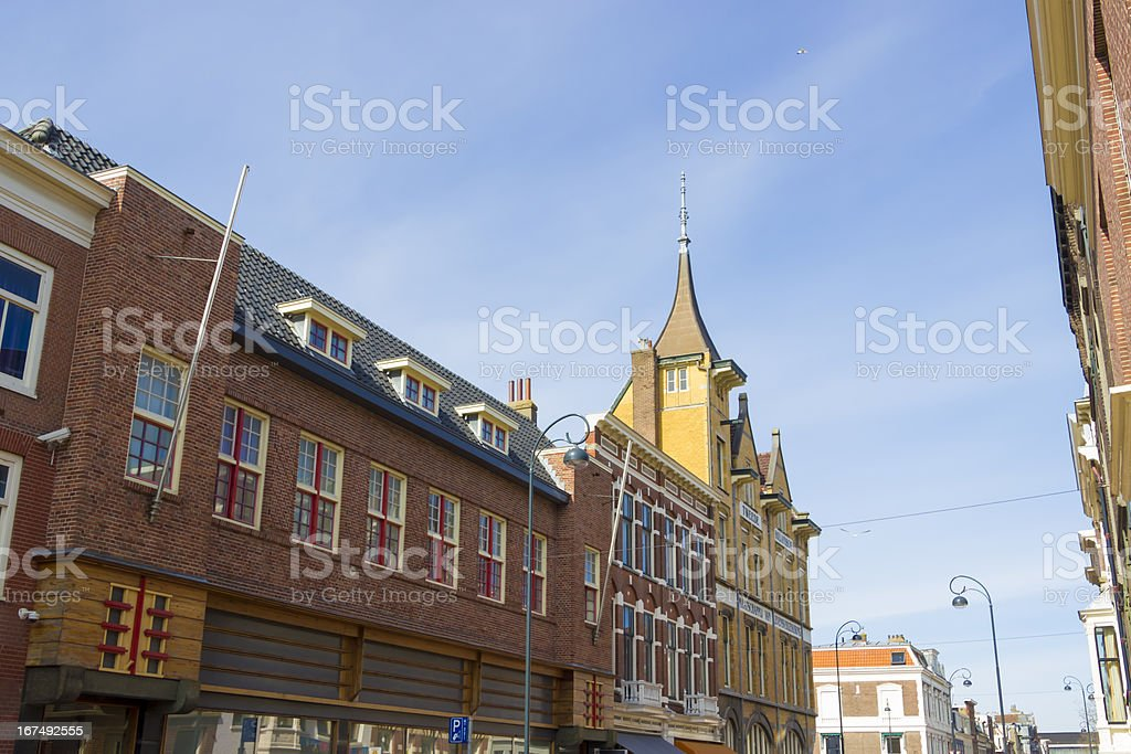 Old typical Dutch houses royalty-free stock photo