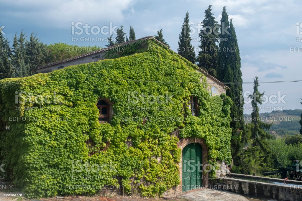 Old typical farm in the Chianti region (Tuscany) stock photo