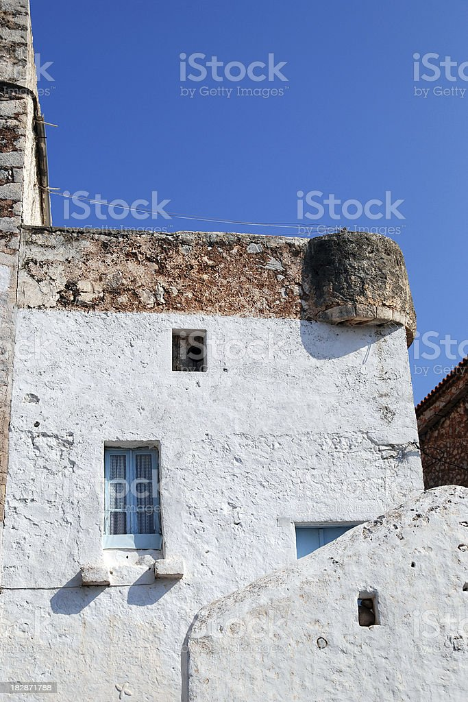Old typical greek house in Areopoli, Mani, Greece stock photo