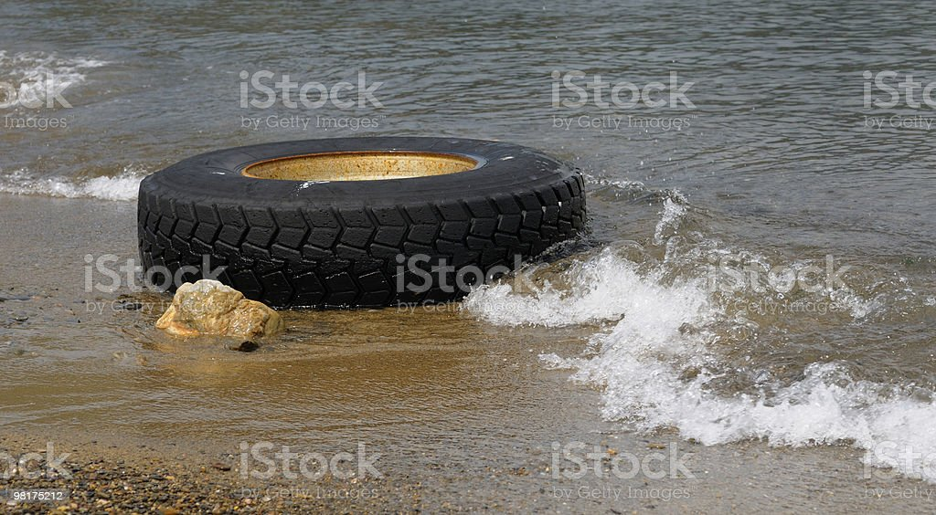 old tyre royalty-free stock photo