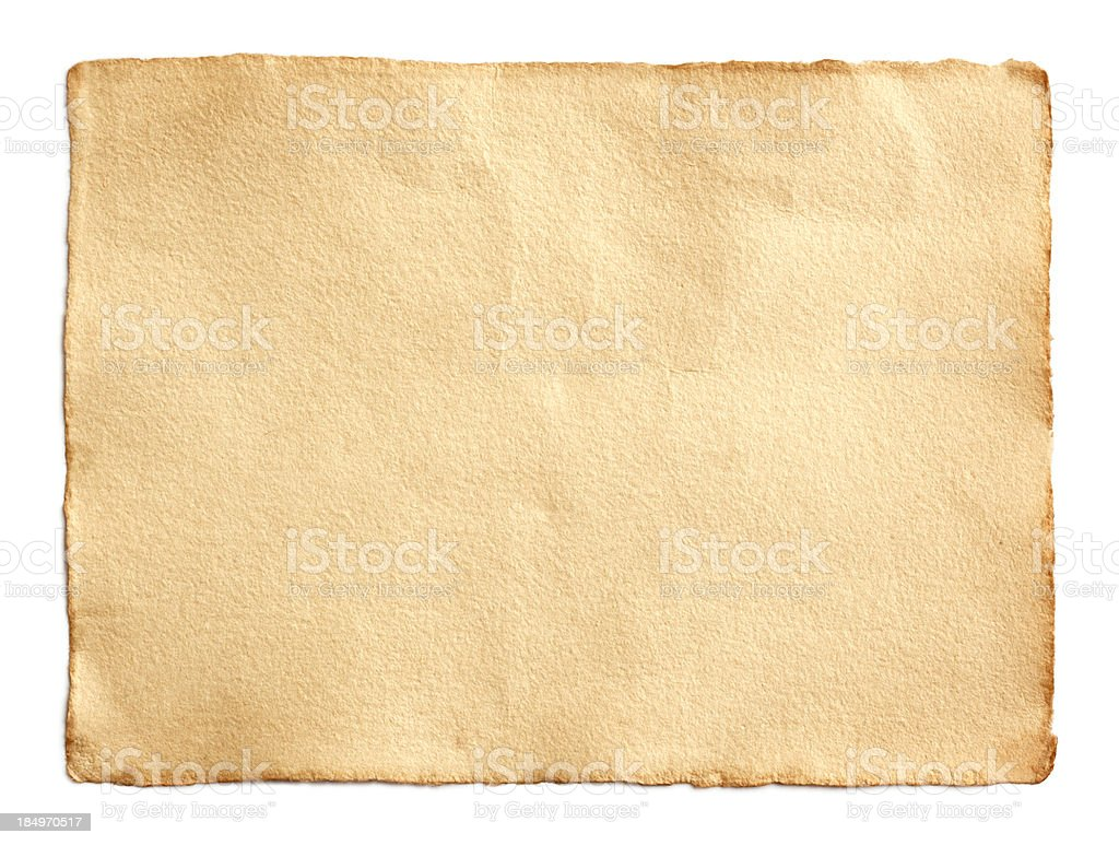 Old unfolded scroll of brown paper royalty-free stock photo