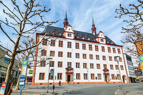 alte university, der domus universitatis, mainz, rheinland-pfalz - friedrich hegel stock-fotos und bilder