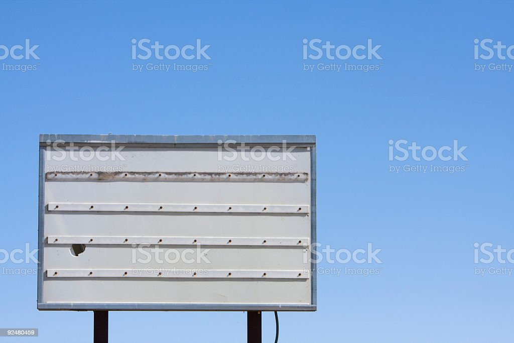 Old unused sign royalty-free stock photo