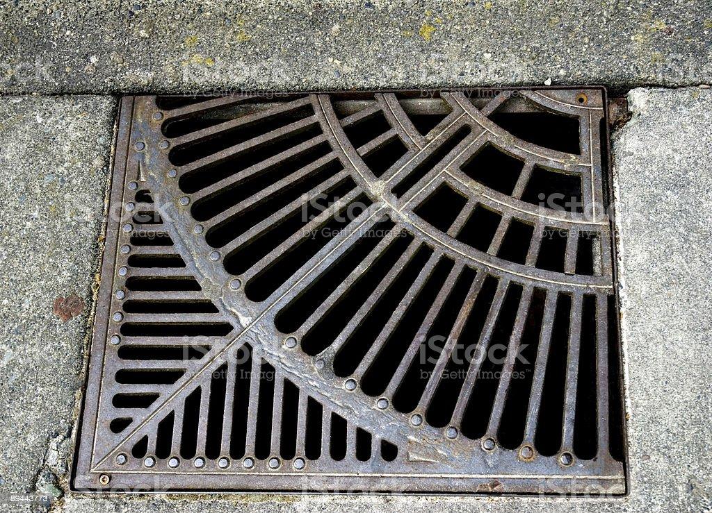 Old Urban Storm Drain-Expression anglo-saxonne photo libre de droits