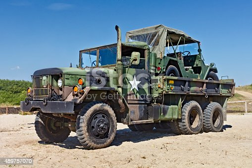 istock Old US Military Truck 489757070