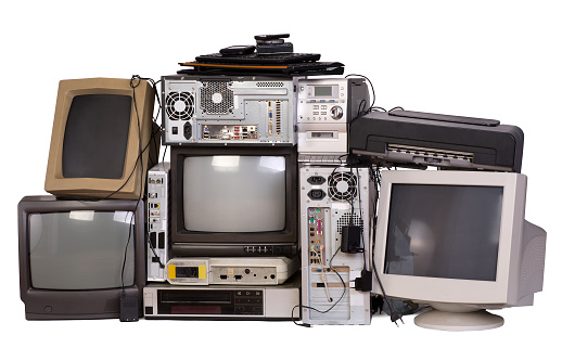 Old, used and obsolete electronic equipment