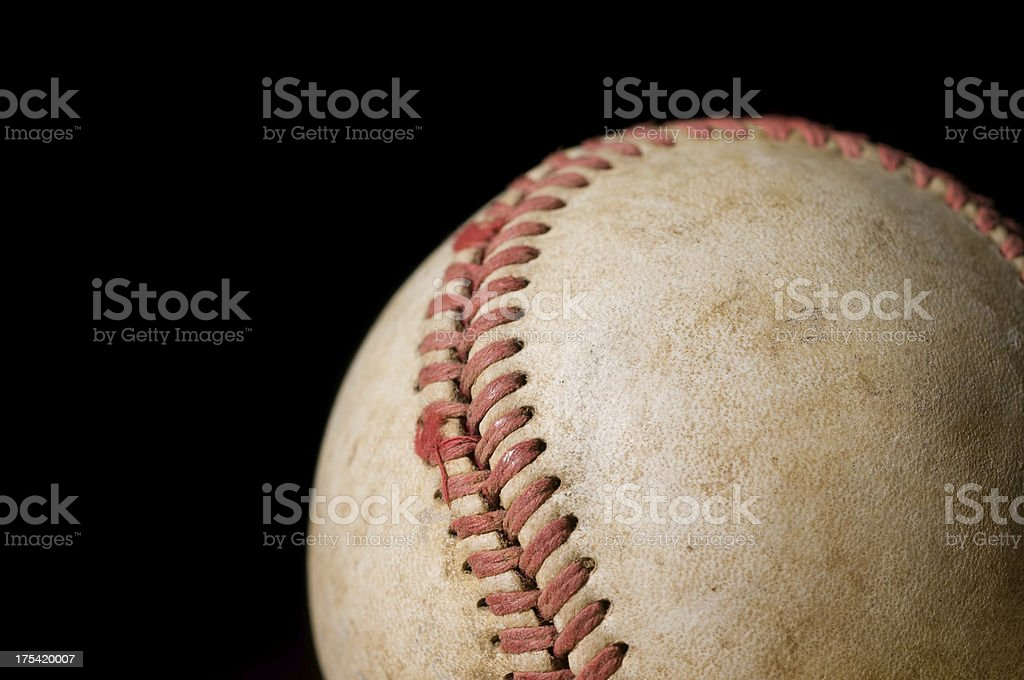Old used baseball royalty-free stock photo