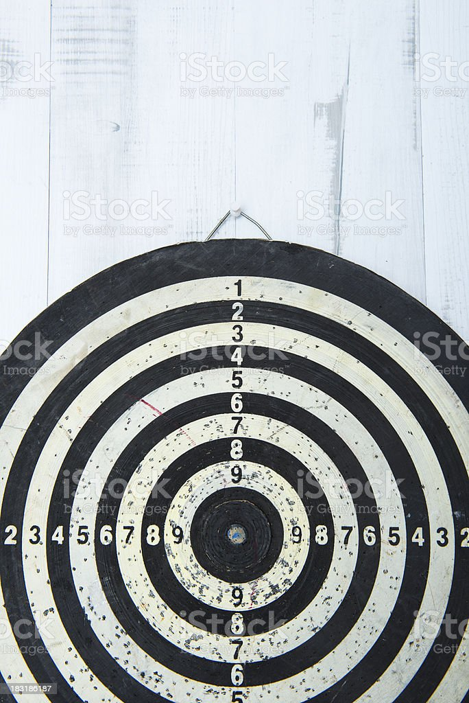 Old used bull's eye royalty-free stock photo