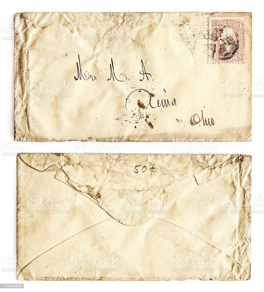 old used envelope royalty-free stock photo