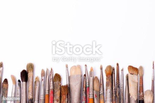 510006691 istock photo Old used paintbrushes 536082599