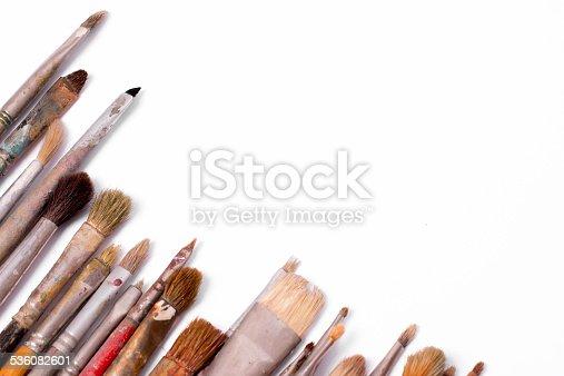 510006691 istock photo Old used paintbrushes 536082601