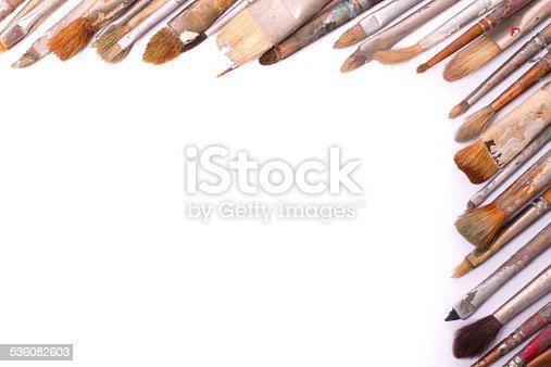 510006691 istock photo Old used paintbrushes 536082603