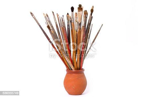 510006691 istock photo Old used paintbrushes 536355749