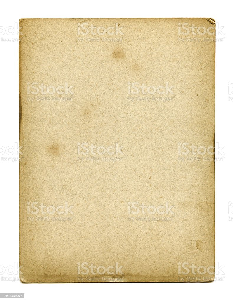 Old used paper texture stock photo