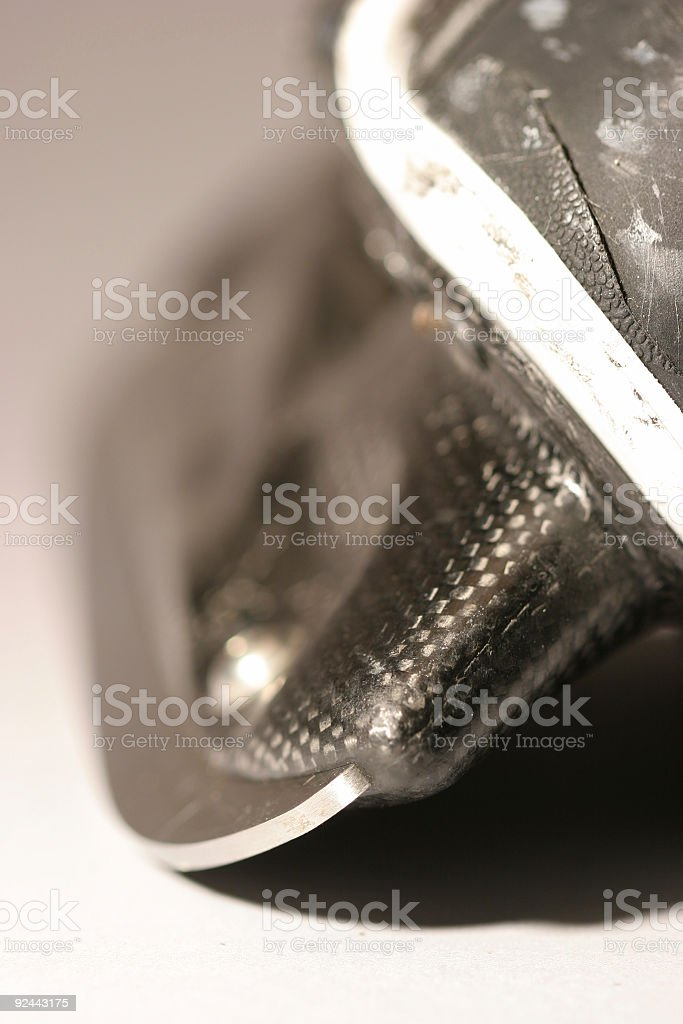 old used  scratched  skate blade close-up royalty-free stock photo
