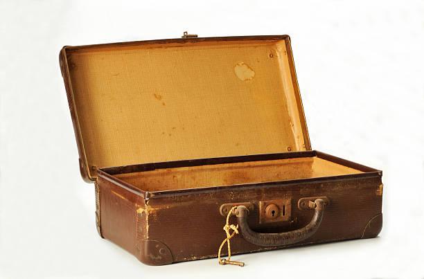 old used suitcase stock photo