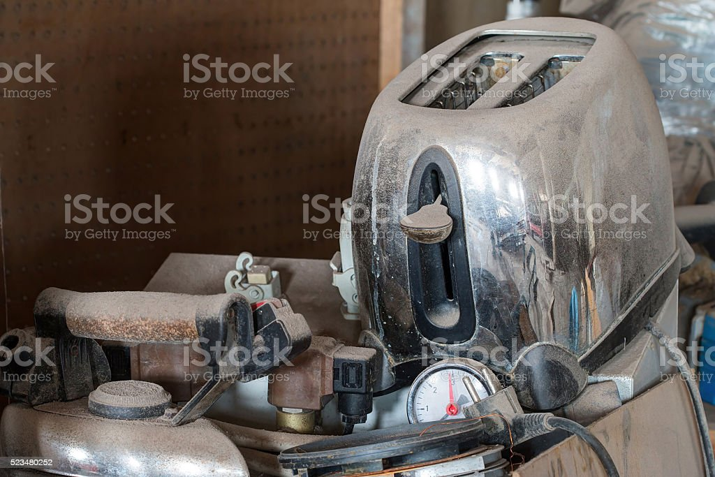Old useless stuff stock photo