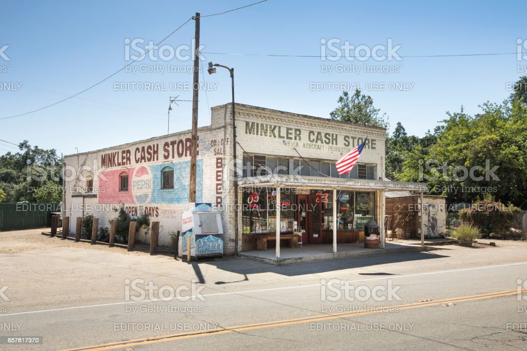 Old variety convenience store in California USA stock photo