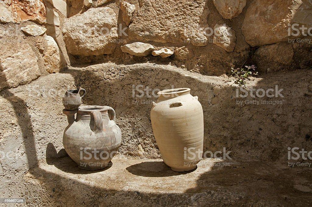 old vases in Israel stock photo