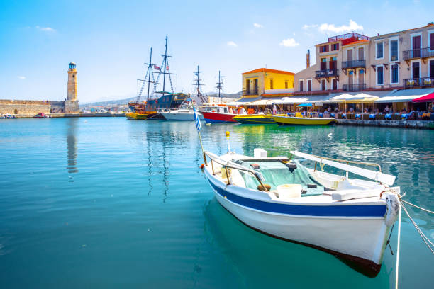 Alten venezianischen Hafen von Rethymnon, Kreta, Griechenland – Foto