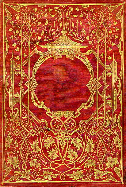 old victorian book cover - art nouveau stock photos and pictures