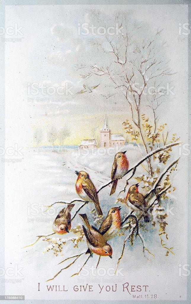 Cartoline Di Natale Vittoriane.Vecchio Stile Vittoriano Cartolina Di Natalerobins Nella