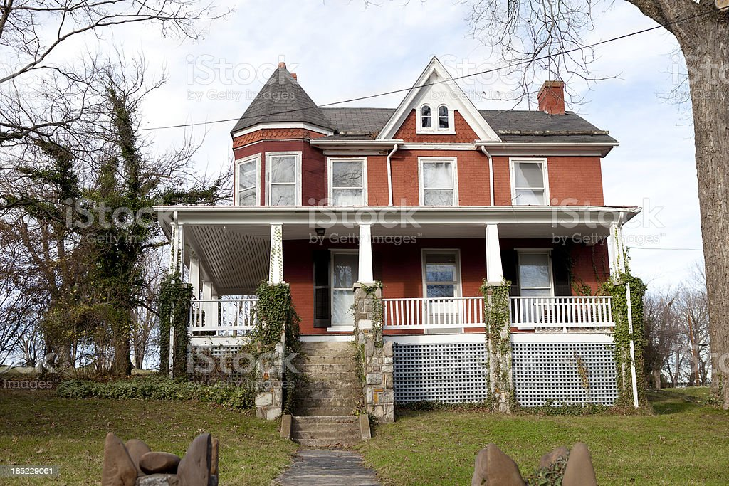 Old Victorian House in American stock photo