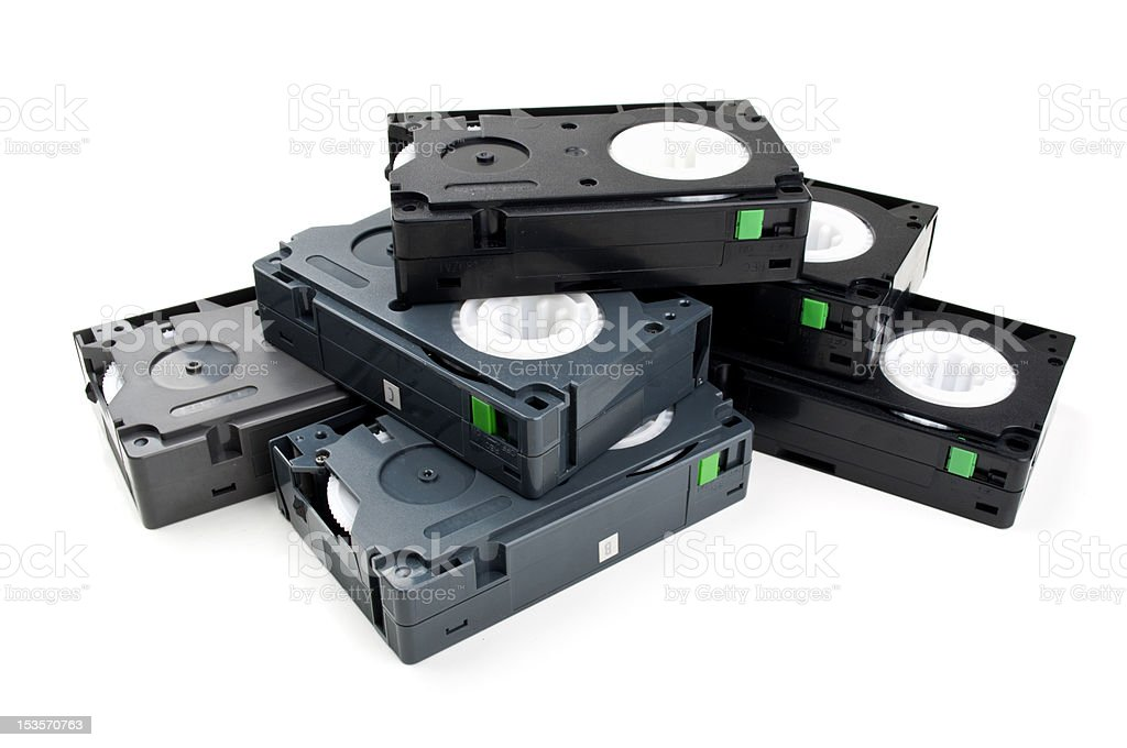 old video cassette royalty-free stock photo