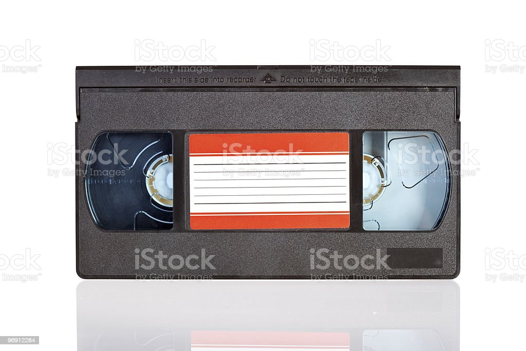 Old Video Cassette tape isolated on white royalty-free stock photo