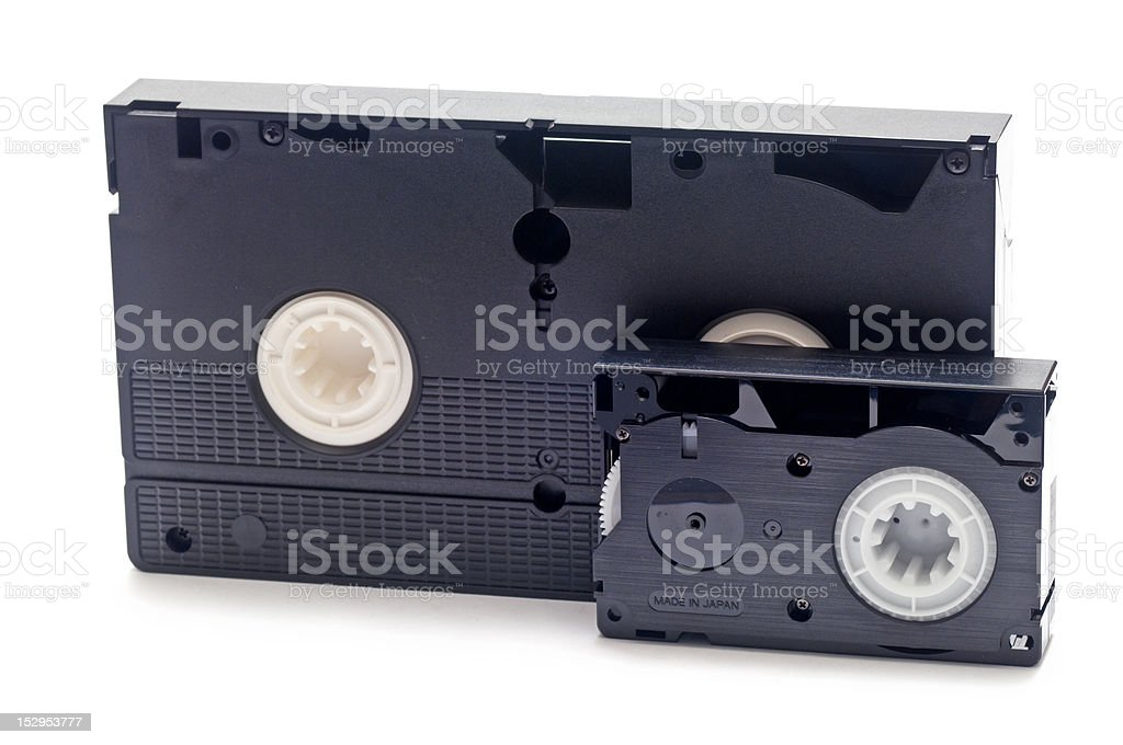 old video tapes royalty-free stock photo