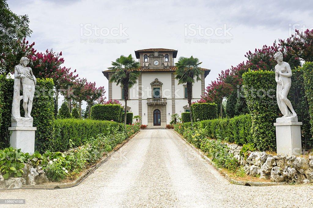 Old villa near Fucecchio (Tuscany) stock photo