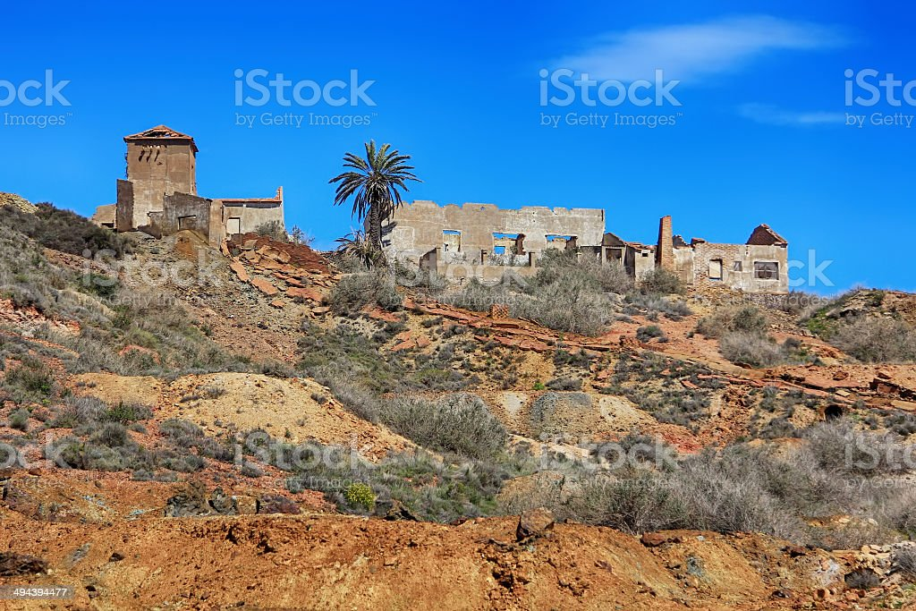 old village destroyed in ruins and abandoned by the bombs royalty-free stock photo