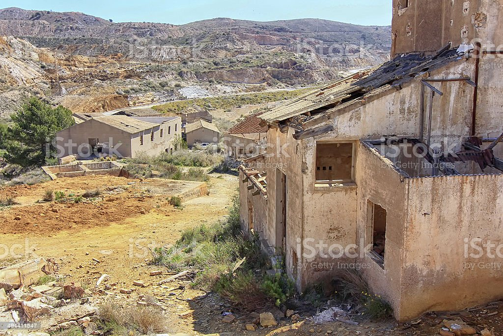 old village destroyed  ruins and abandoned by the bombs royalty-free stock photo