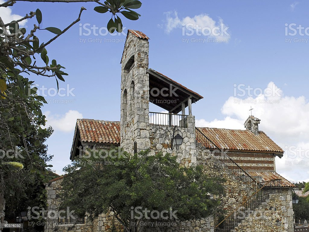 Old village in Dominican Republic (Altos de Chavon) royalty-free stock photo