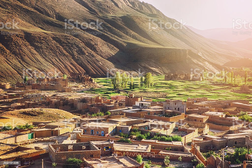 Old Village in Morocco stock photo