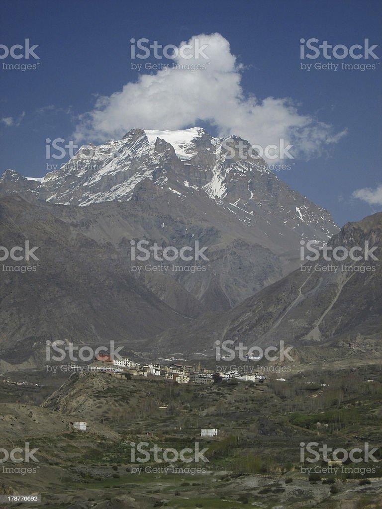 Old village Jharkot royalty-free stock photo