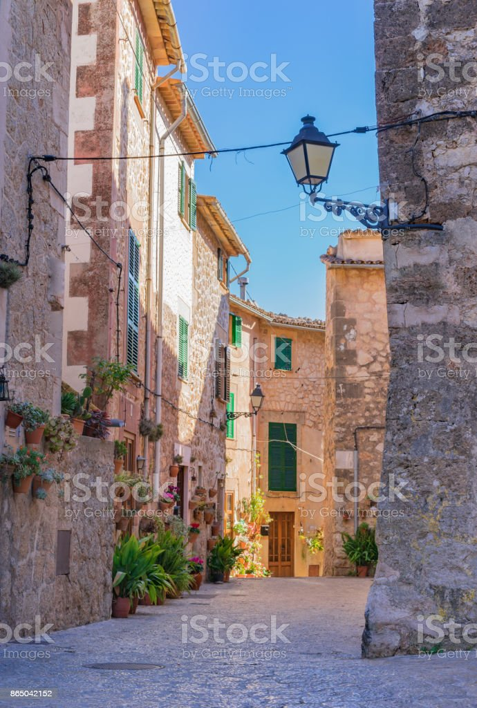 Old village of Valldemossa on Majorca, Spain Balearic Islands stock photo