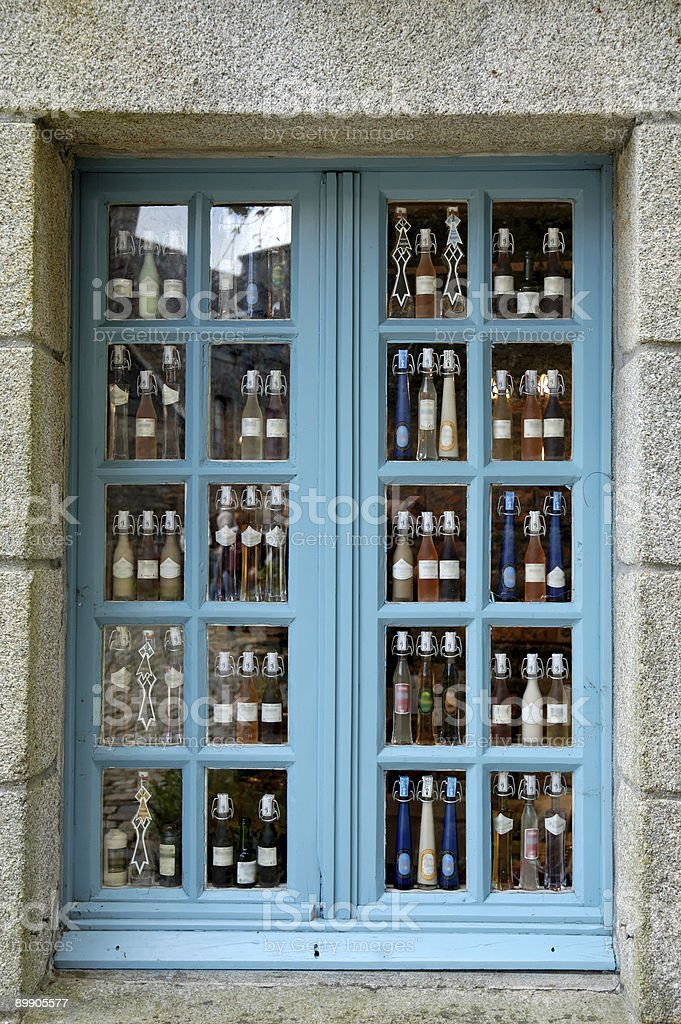 Old village window shop royalty free stockfoto