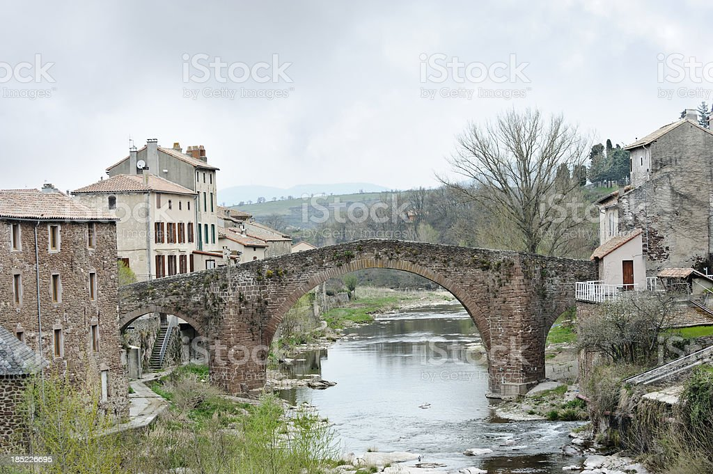 Old village,Languedoc-Rousillon, France royalty-free stock photo