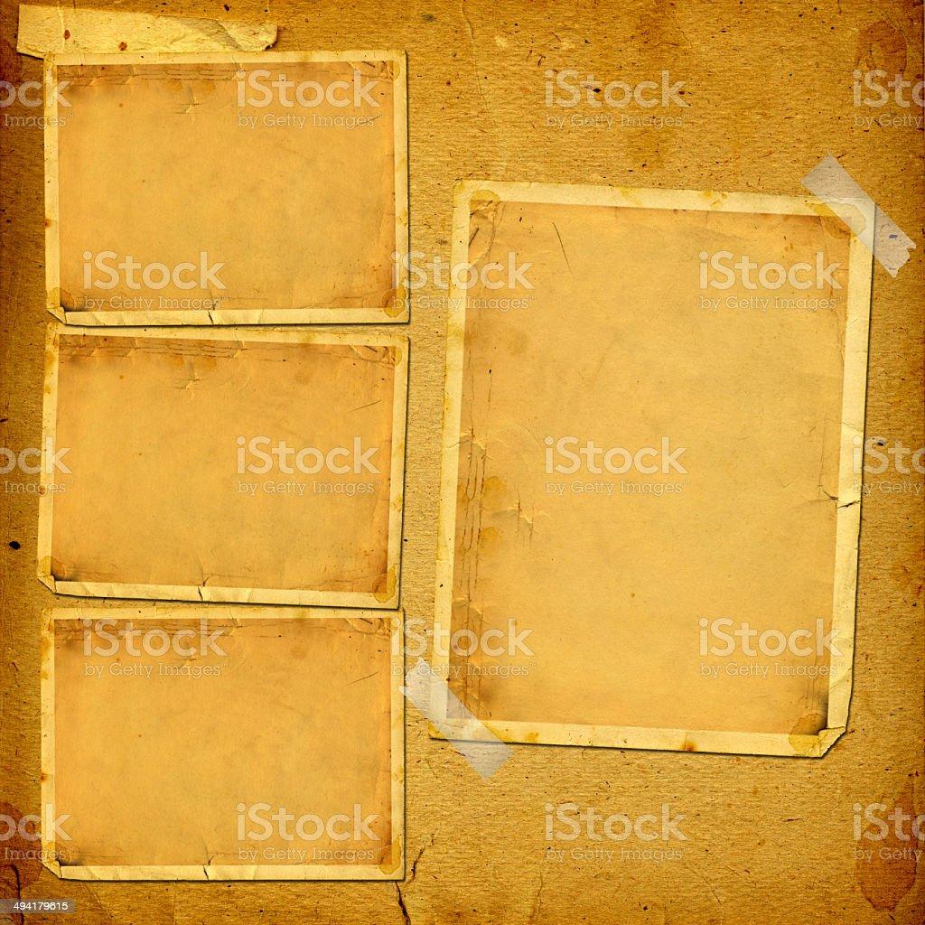 Alte Vintage Album Mit Papier Rahmen Für Fotos Stock-Fotografie und ...