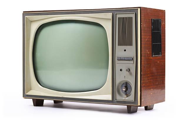 Alte vintage-analog-Fernseher – Foto