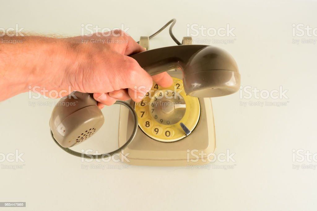 Old vintage analogic telephone royalty-free stock photo