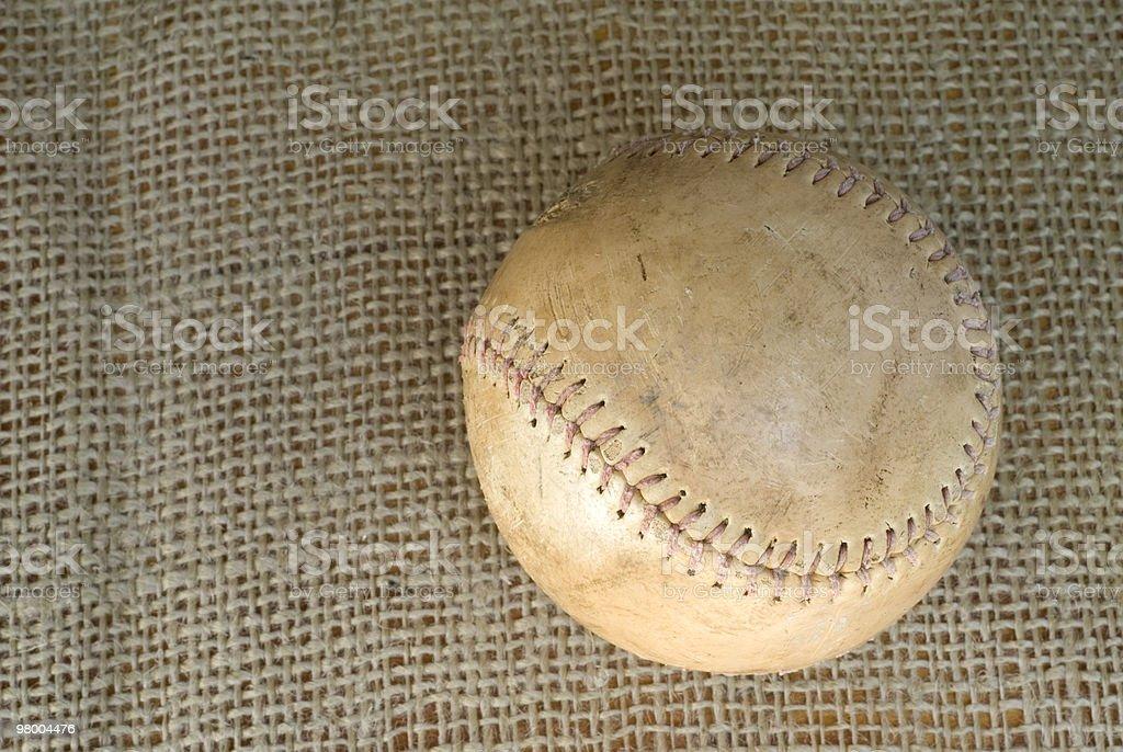 Old Vintage Baseball royalty-free stock photo