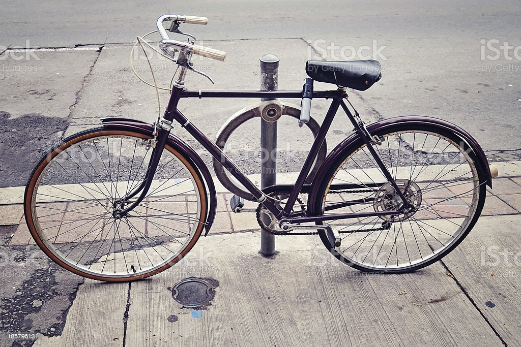 Old Vintage Bicycle royalty-free stock photo